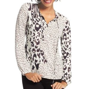 Cabi Skin Print Wrap Front Blouse Style #590